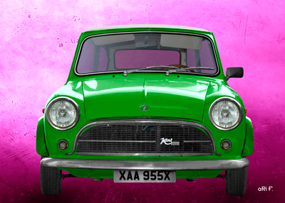 Innocenti Mini Minor 850 Poster in green