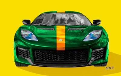 Lotus Evora 400 Poster in racing green