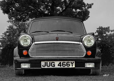 Mini Cabriolet 1275cc Poster in black