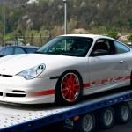Porsche 911 GT3 RS Typ 996 mit seitlich roter Folierung