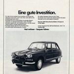 1972, Ami 8 Werbung in Deutschland