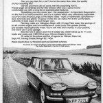 1973, Ami 8 Werbung in Großbritanien
