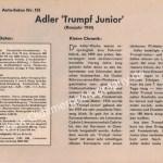 Adler Trumpf 1934 Sammelblatt aus Zeitung hobby von 1965 Seite 2