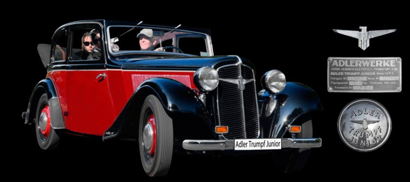 Adler Trumpf Junior Cabriolimousine (1934-1941) Poster
