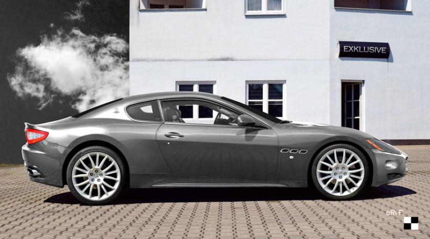 Maserati GranTurismo Poster in silver