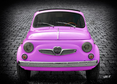 Steyr-Puch 500 Modell Fiat in pink Poster