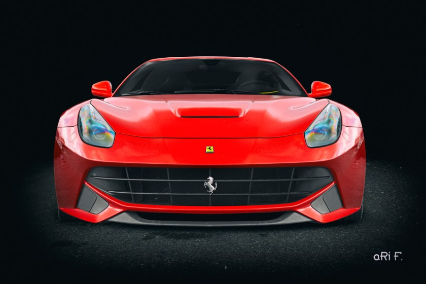 Ferrari F12 Poster in front view