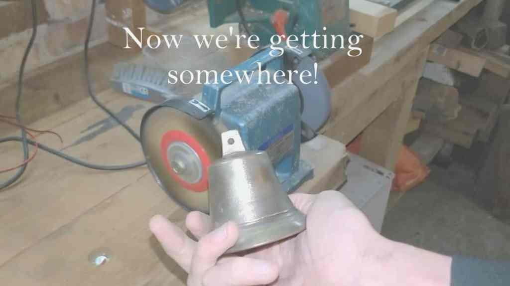 Bell after polishing with brass wheel