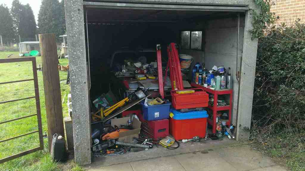 garage full of stuff