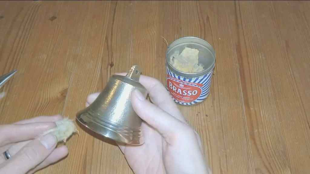 polishing bell with brasso