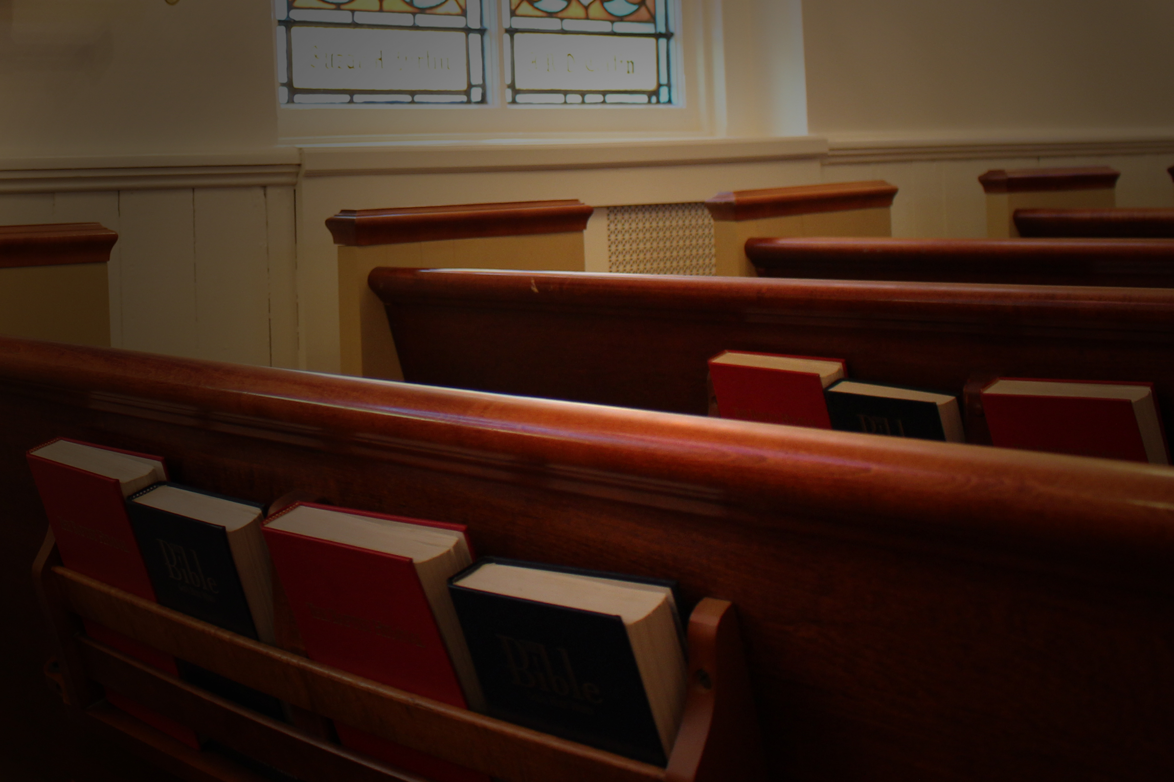 image of pews inside a church