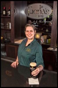 Bartender Kelly McKernan at Fiona's. Photo Credit © Chester Simpson