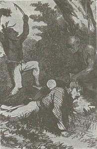 Thomas' Legion Scalping Yankees, from Adventures of Daniel Ellis the Union Guide 1868