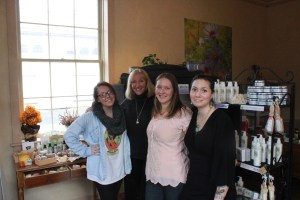 Valley Green Naturals Owner Cindy DeVore 2nd from left with staff
