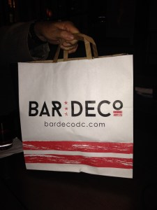 Dining Out to go bag