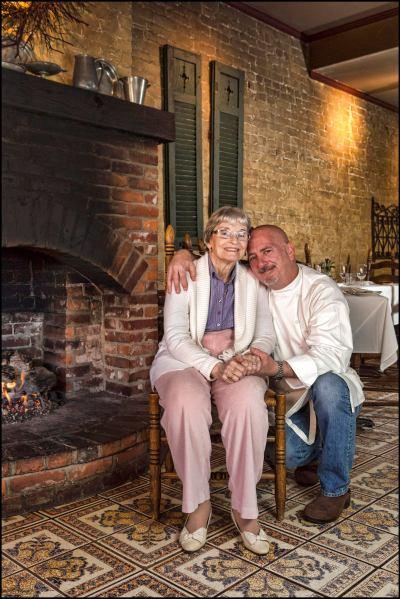 Chef Troy Clayton with Mom