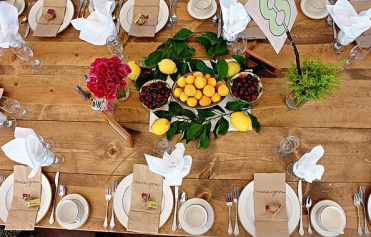 Table Setting at Old Town Farm
