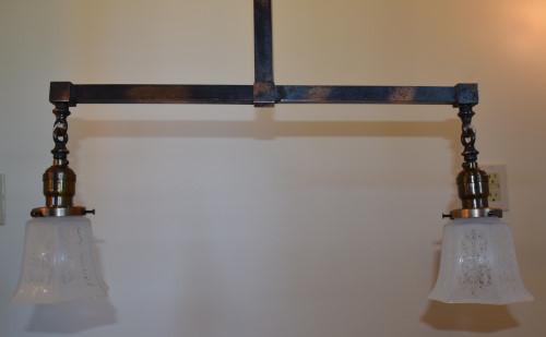 Craftsman chandelier, 42 inch, lower view