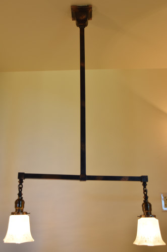 Craftsman chandelier 42 inch full view lit