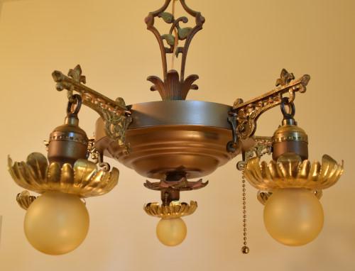 Vine chandelier, unlit, close up