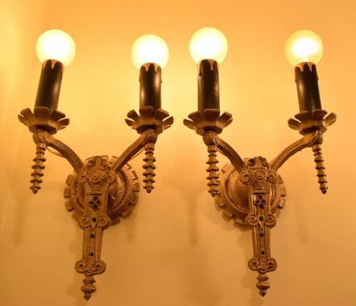 Arabesque Sconces, fully lit