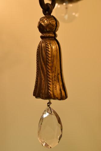 Brass Swag Chandelier, tassel close up