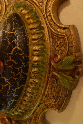 Palmetto Sconce, 1, detailed look at paint