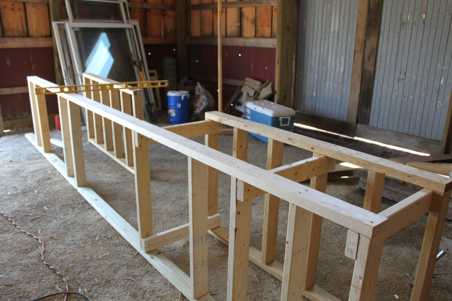 We started by making the frame from 2 x 4's – using treated lumber ...