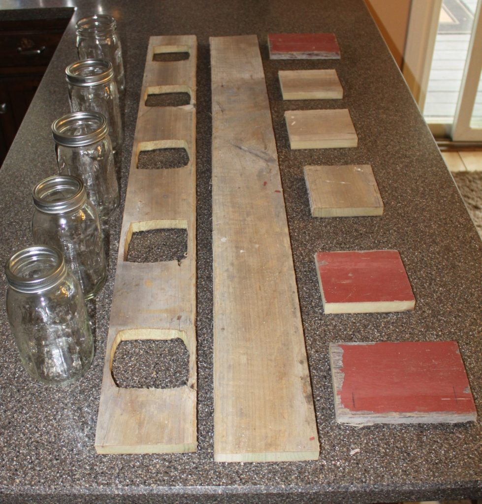 Barn Wood Ideas: Creating A Mason Jar Centerpiece From Old Barn Wood Or Pallets