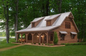 Weaver Barns Cedar Brook model that we will modify to our plans. Photo courtesy of Weaver Barns