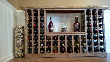 Building A Classic Wine Rack From Pallets And Reclaimed