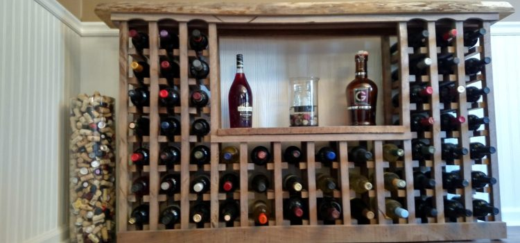 Building A Classic Wine Rack From Pallets And Reclaimed Barn Wood