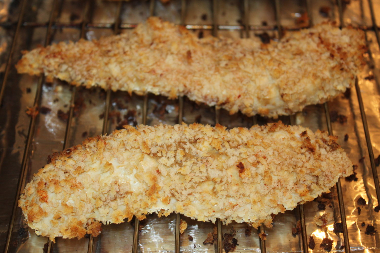 Half Way Through The Baking, Turn Tenders Over To Brown Evenly Baked  Chicken Tenders Baked