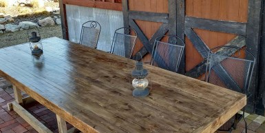 2 x 4 farm table