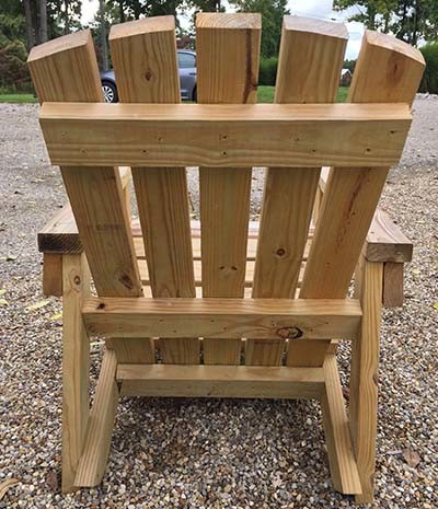 2x4 diy adirondack chair perfect for the patio backyard or fire pit