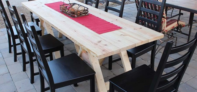 DIY Sawhorse Farm Table – One Incredibly Cool, Inexpensive Farm Table!