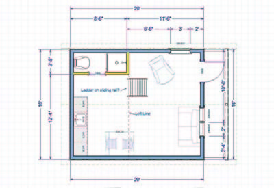 off-grid cabin floor plan