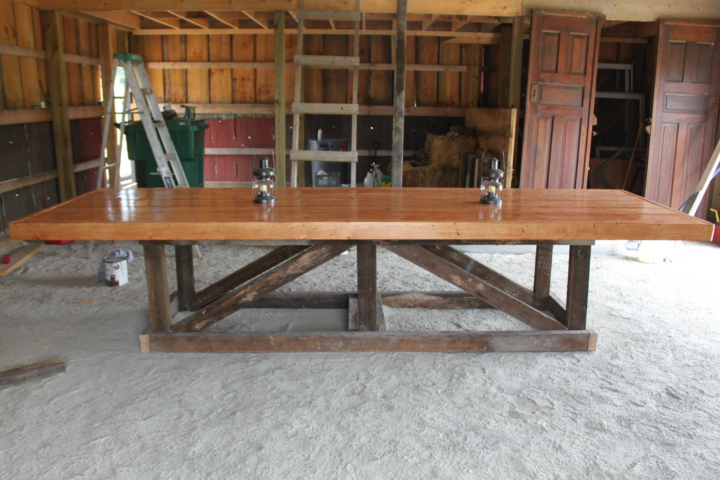 The Recycled Barn Trestle Table – Seating For 14