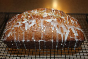 If you want your bread to taste like a cinnamon roll, add the glaze on the top - DELICIOUS!!!