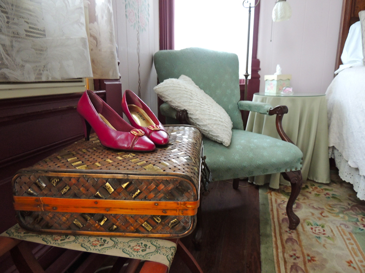 vintage suitcase and shoes the coppersmith inn