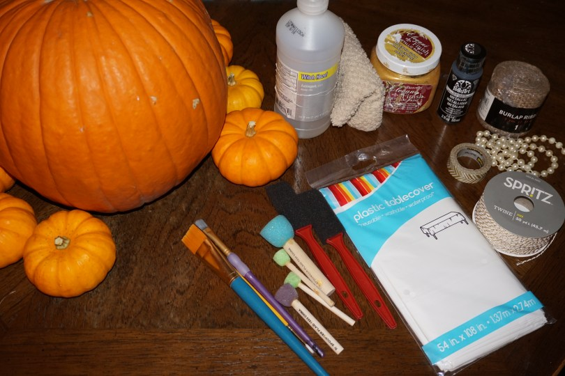 DIY Painted Pumpkin Supplies - Old World New