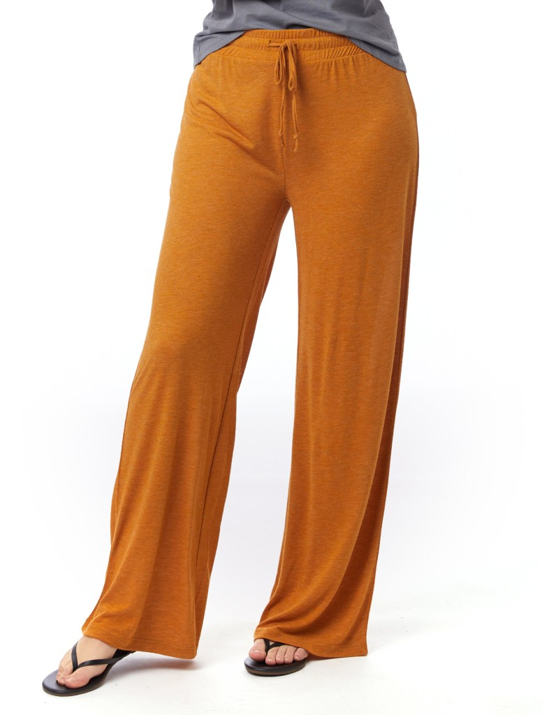alternative apparel slinky jersey lounge pants - recycled plastic fabric - sustainable loungewear