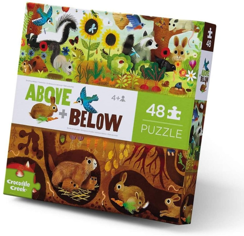 above + below animal puzzle - crocodile creek