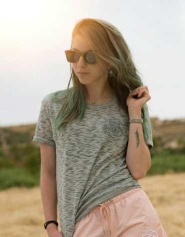 Skateboard wood sunglasses