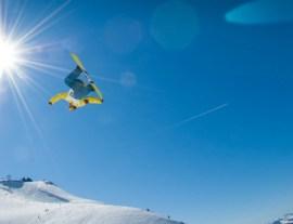 stylish Snowboarding image