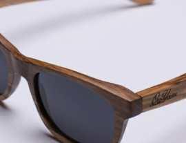 Sloth worker zebra wood sunglasses
