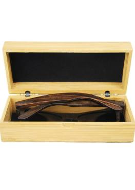ebony wooden sunglasses in case
