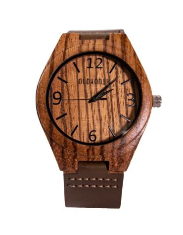 wooden watch face
