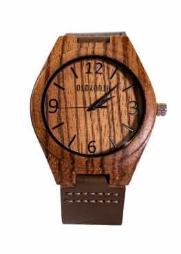 wooden watch face