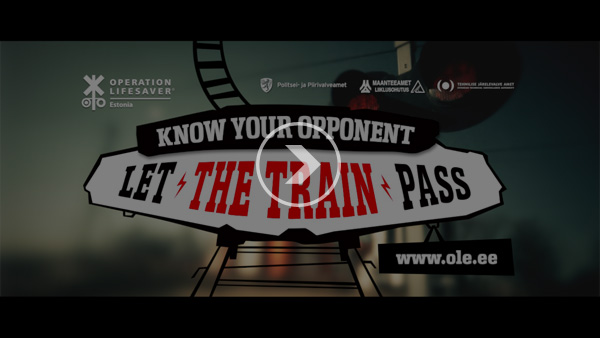"Railway Safety Campaign ""Know Your Opponent"" - video"
